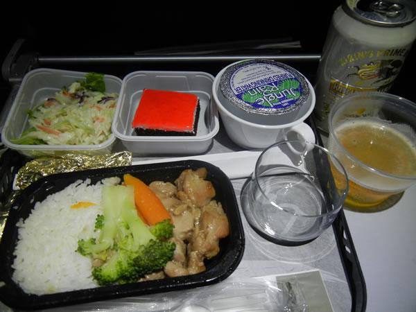 2015年2月 ハワイアン航空 HA457 機内食