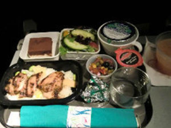 2011年2月 ハワイアン航空 HA457 機内食