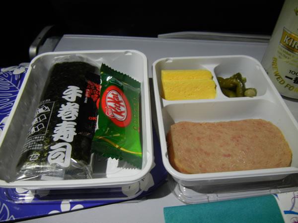 2015年2月 ハワイアン航空 HA458 機内食