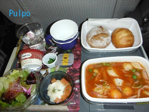 2012年12月 日本航空 / JAL JL80  機内食