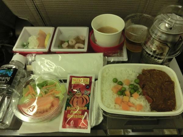 2015年12月 日本航空 / JAL JL89  機内食