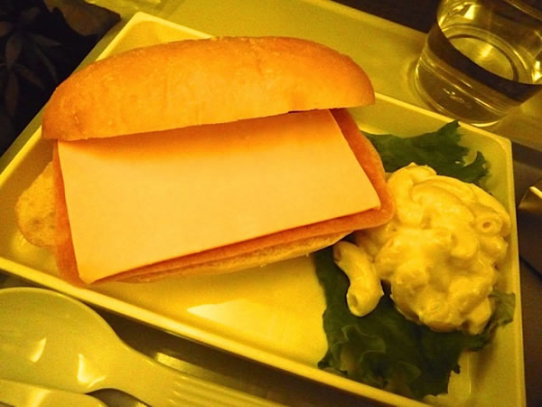 2012年12月 日本航空 / JAL JL89  機内食