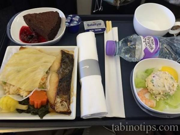 2015年3月 ブリティッシュ エアウェイズ BA8  機内食
