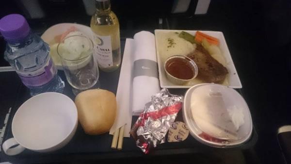 2016年5月 ブリティッシュ エアウェイズ BA8  機内食