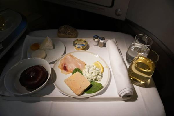 2015年1月 エールフランス航空 AF274 機内食