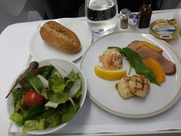 2014年12月 エールフランス航空 AF279 機内食