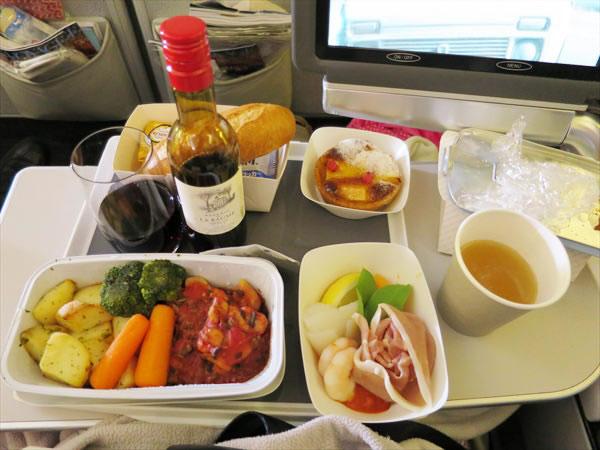 2014年8月 エールフランス航空 AF293 機内食