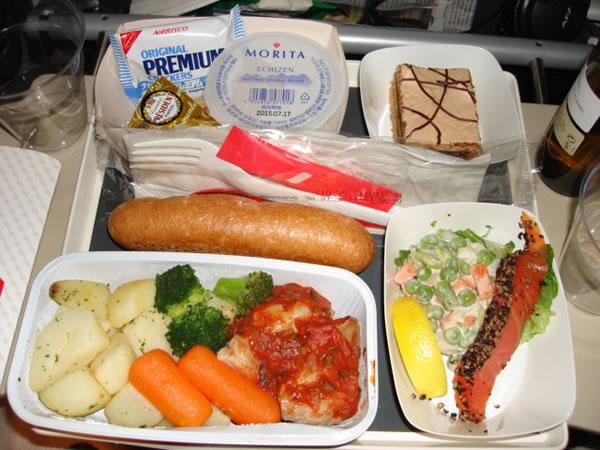 2014年12月 エールフランス航空 AF293 機内食