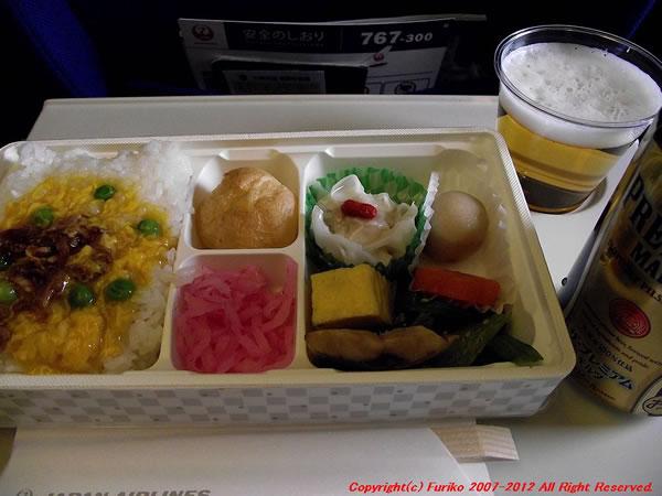 2012年6月 日本航空 / JAL JL93 機内食