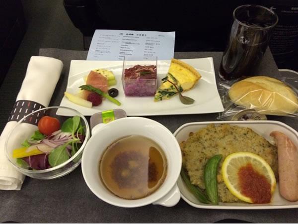 2016年2月 日本航空 / JAL JL95 機内食