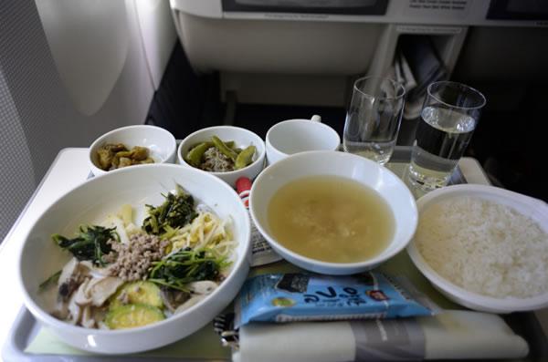 2016年8月 大韓航空 KE2708 機内食