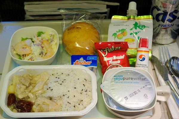 2013年12月 大韓航空 KE2708 機内食
