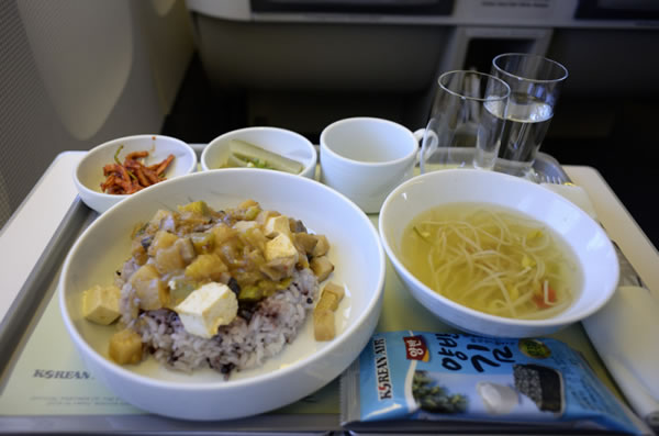 2016年9月 大韓航空 KE2709 機内食