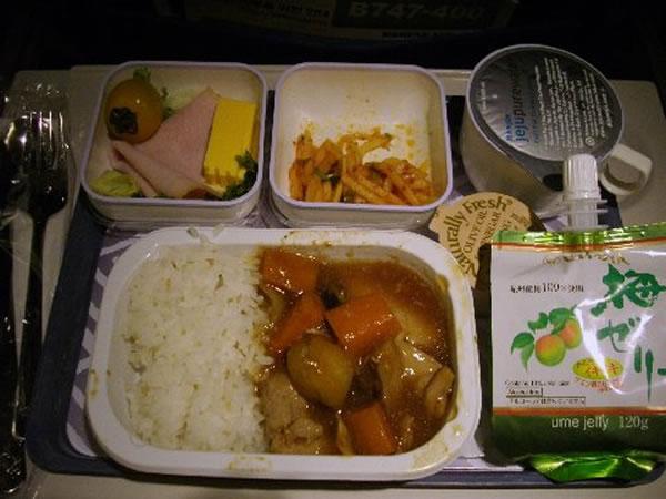 2011年9月 大韓航空 KE2710 機内食