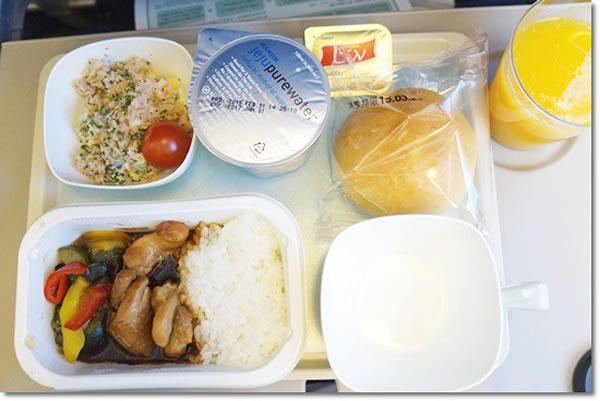 2015年3月 大韓航空 KE2712 機内食