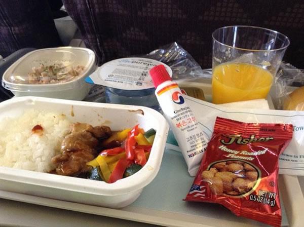 2014年5月 大韓航空 KE2712 機内食