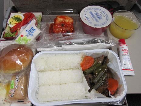2010年10月 アシアナ航空 OZ1035 機内食