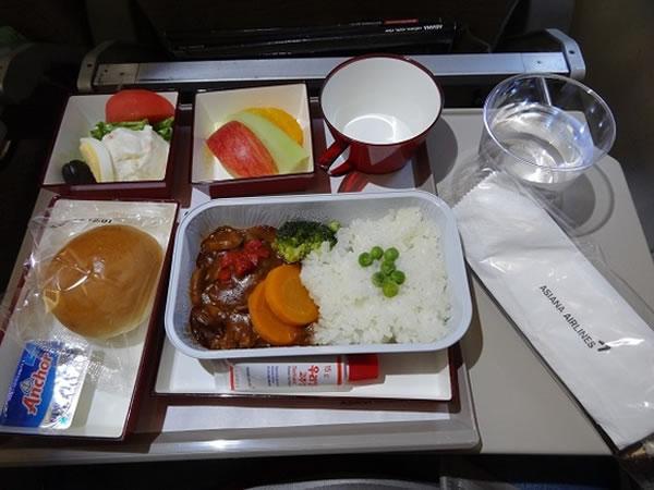 2014年12月 アシアナ航空 OZ1055 機内食