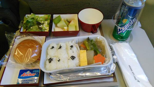 2015年9月 アシアナ航空 OZ1055 機内食