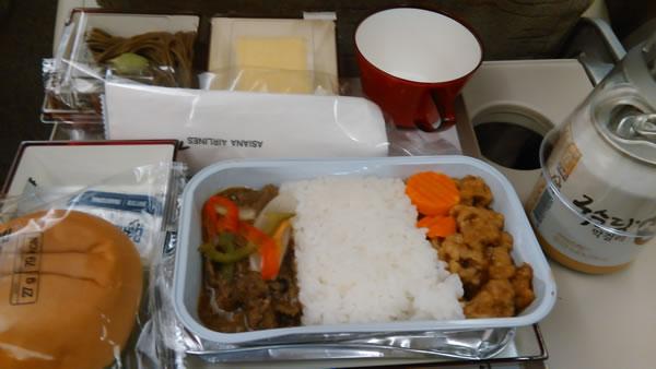 2015年9月 アシアナ航空 OZ1065 機内食