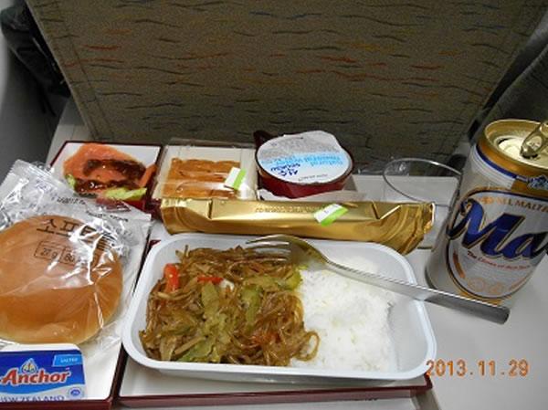 2013年11月 アシアナ航空 OZ1085 機内食