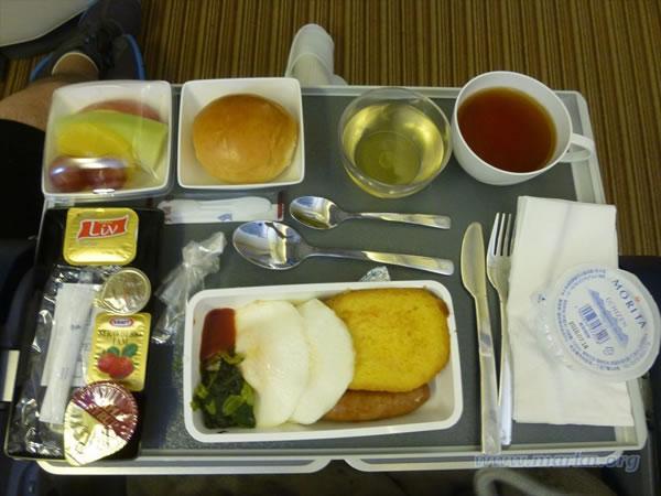 2016年1月 シンガポール航空 SQ631 機内食