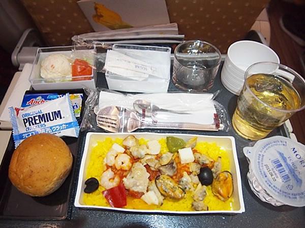 2014年5月 シンガポール航空 SQ631 機内食