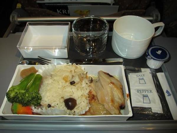 2014年10月 シンガポール航空 SQ632 機内食