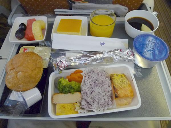 2016年3月 シンガポール航空 SQ632 機内食