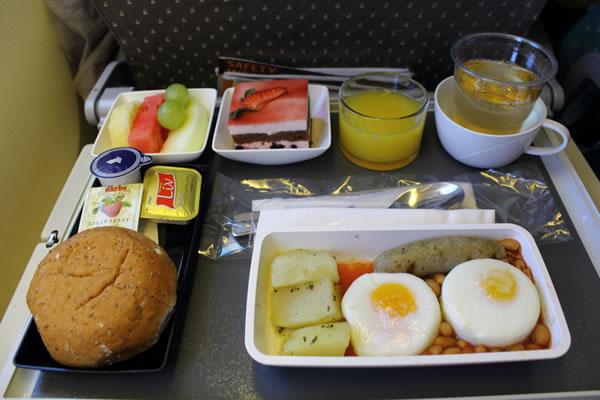 2016年2月 シンガポール航空 SQ632 機内食