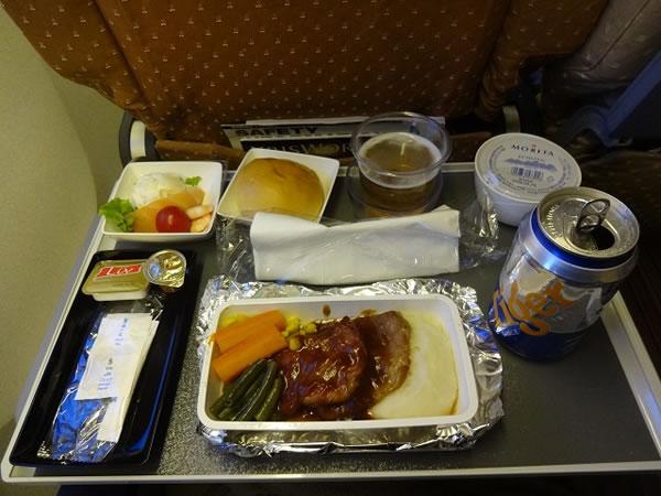 2015年7月 シンガポール航空 SQ633 機内食