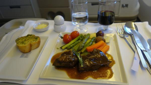 2015年4月 シンガポール航空 SQ634 機内食