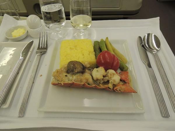 2013年1月 シンガポール航空 SQ634 機内食