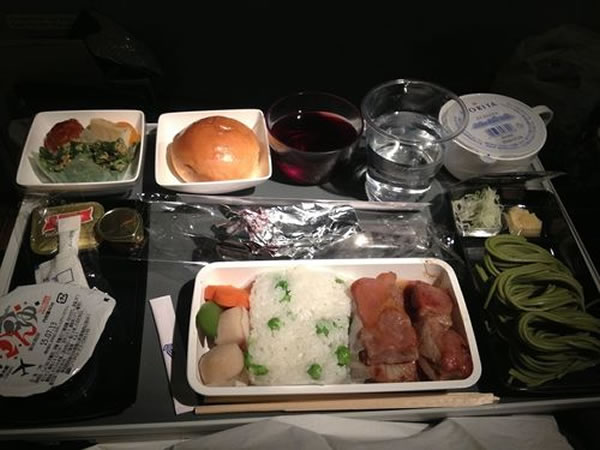 2015年5月 シンガポール航空 SQ635 機内食