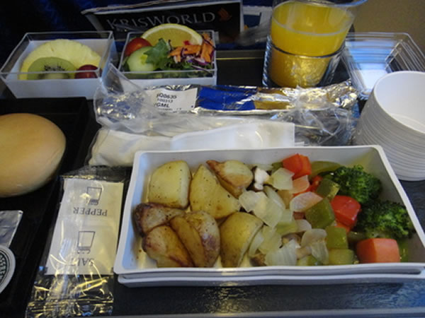2013年3月 シンガポール航空 SQ635 機内食