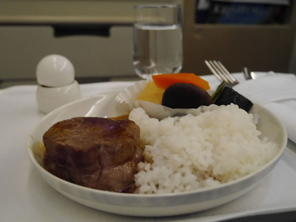 2013年7月 シンガポール航空 SQ635 機内食