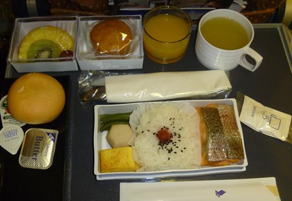2012年11月 シンガポール航空 SQ635 機内食