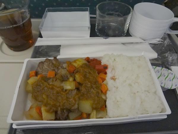 2013年8月 シンガポール航空 SQ635 機内食
