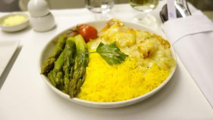 2015年2月 シンガポール航空 SQ636 機内食