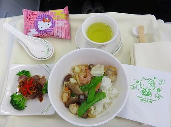 2014年6月 エバー航空 BR189 機内食