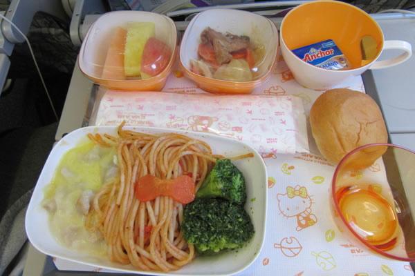 2015年11月 エバー航空 BR191 機内食