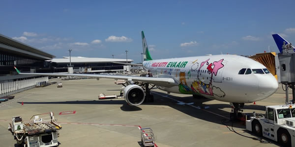 エバー航空 ハローキティジェット 羽田-台北(松山)線に就航