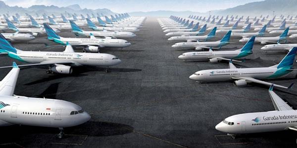 ガルーダ・インドネシア航空機 多数