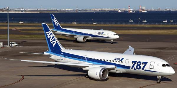 ANA 羽田-シンガポール線の機材をボーイング社B787に変更