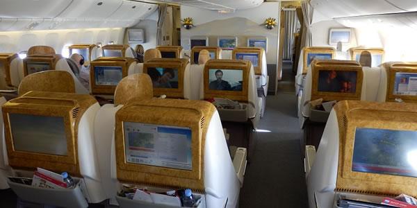 エミレーツ航空 B777-200LR ビジネスクラス