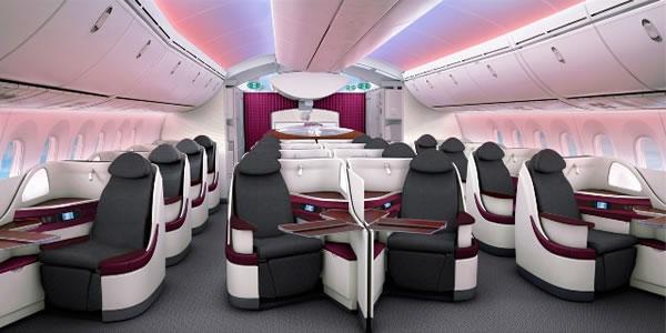 カタール航空 B787 ビジネスクラス