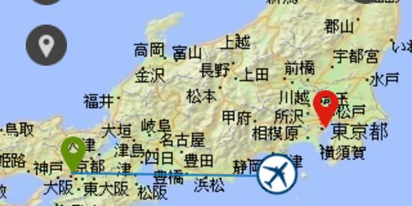 JAL 国内線WiFiインターネット フライトマップ