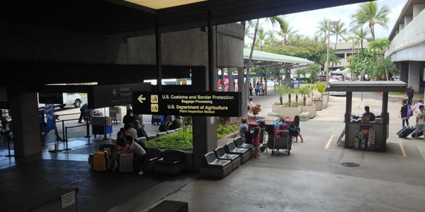 ホノルル空港 ハワイアン航空
