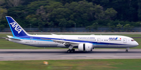 ANA ボーイングの最新機B787-9を世界初就航 座席数が豊富に